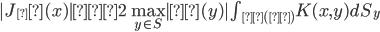 |J_δ(x)| ≦ 2\max_{y\in S} |β(y)| \int_{Σ(δ)} K(x,y) dS_y