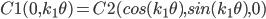 C1(0,k_1 \theta)=C2(cos(k_1 \theta),sin(k_1 \theta),0)