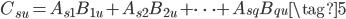 C_{su}=A_{s1}B_{1u}+A_{s2}B_{2u}+\dots +A_{sq}B_{qu}\tag{5}
