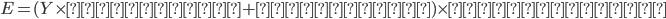 E=(Y\times乗算補正+加算補正)\times耐龍の装衣