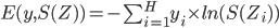 E(y, S(Z)) = -\sum_{i=1}^{H}y_i \times ln(S(Z_i))