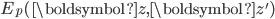 E_p(\boldsymbol{z}, \boldsymbol{z}')