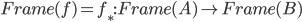 Frame(f) = f_*: Frame(A) \to Frame(B)