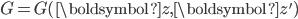 G=G(\boldsymbol{z}, \boldsymbol{z}')