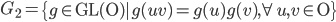 G_2=\left\{ g\in\mathrm{GL(O)}| g(uv)=g(u)g(v), \forall u, v \in\mathrm{O} \right\}