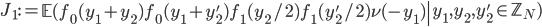 J_1:=\left.\mathbb{E}(f_0(y_1+y_2)f_0(y_1+y_2')f_1(y_2/2)f_1(y_2'/2)\nu(-y_1)\right|y_1, y_2, y_2' \in \mathbb{Z}_N)