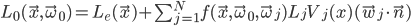 [cht]L_0(\vec x, \vec \omega_0) = L_e(\vec x) + \sum_{j=1}^{N}f(\vec x, \vec \omega_0, \vec \omega_j) L_j V_j(x) (\vec w_j \cdot \vec n)[/cht]