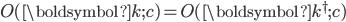 O(\boldsymbol{k}; c) = O(\boldsymbol{k}^{\dagger}; c)