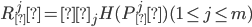 R ^ j _ π = α _ j H(P ^ j _ π) (1 \leq j \leq m)