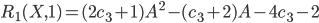 R_1(X,1)=(2c_3+1)A^2-(c_3+2)A-4c_3-2