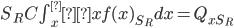 S_R C\int_x^∞ xf(x)_{S_R}dx = Q_{xS_R}