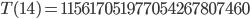 T(14)=115617051977054267807460
