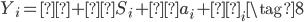 Y_i = α+ ρS_i + γa_i + ε_i\tag{8}