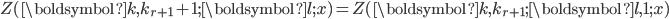 Z(\boldsymbol{k},k_{r+1}+1;\boldsymbol{l};x)=Z(\boldsymbol{k},k_{r+1};\boldsymbol{l},1;x)