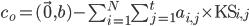 c_o=(\vec{0},b)-\sum_{i=1}^{N} \sum_{j=1}^t a_{i,j} \times {\rm KS}_{i,j}