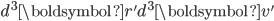 d^3\boldsymbol{r'}d^3\boldsymbol{v'}