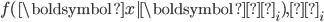 f(\boldsymbol{x}| \boldsymbol{μ_i}),Σ_i