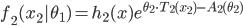 f_2(x_2|\theta_1) = h_2(x)e^{\theta_2 \cdot T_2(x_2) -A_2(\theta_2)}