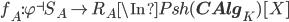 f_A: \varphi^{\dashv}S_A \to R_A \In Psh({\bf CAlg}_K)[X]