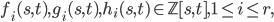 f_i(s,t),g_i(s,t),h_i(s,t)\in\mathbb{Z}[s,t],~1\le i\le r,