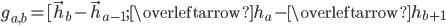 g_{a,b}=[\vec{h}_b - \vec{h}_{a-1};\overleftarrow{h}_a - \overleftarrow{h}_{b+1}