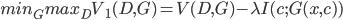 min_G max_D V_1(D, G) = V(D, G) - \lambda I(c; G(x,c))