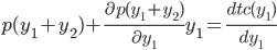 p(y_1+y_2)+\frac{\partial p(y_1+y_2)}{\partial y_1}y_1 = \frac{dtc(y_1)}{dy_1}