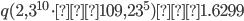 q(2, 3^{10}\cdot 109, 23^5)≒1.6299