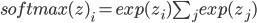 softmax(z)_i={exp(z_i)}{\sum_j exp(z_j)}