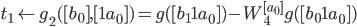 t_1 \leftarrow g_2([b_0], [1 a_0]) = g([b_1 1 a_0]) - W_4^{[a_0]} g([b_0 1 a_0])