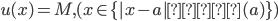 u(x)=M ,(x\in \{|x-a|≦δ(a)\} )