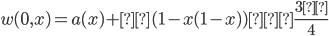 w(0,x) = a(x) + ε (1-x(1-x))≧ \frac{3ε}{4}