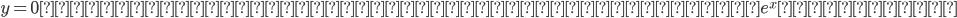 y=0 の時、実数軸上では通常の指数関数e^xとなる。