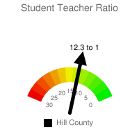 Student : Teacher Ratio - Hill County