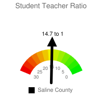 Student : Teacher Ratio - Saline County