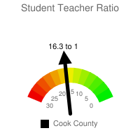 Student : Teacher Ratio - Cook County