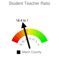 Student : Teacher Ratio - Marin County