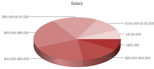 Pie Chart of Salaries